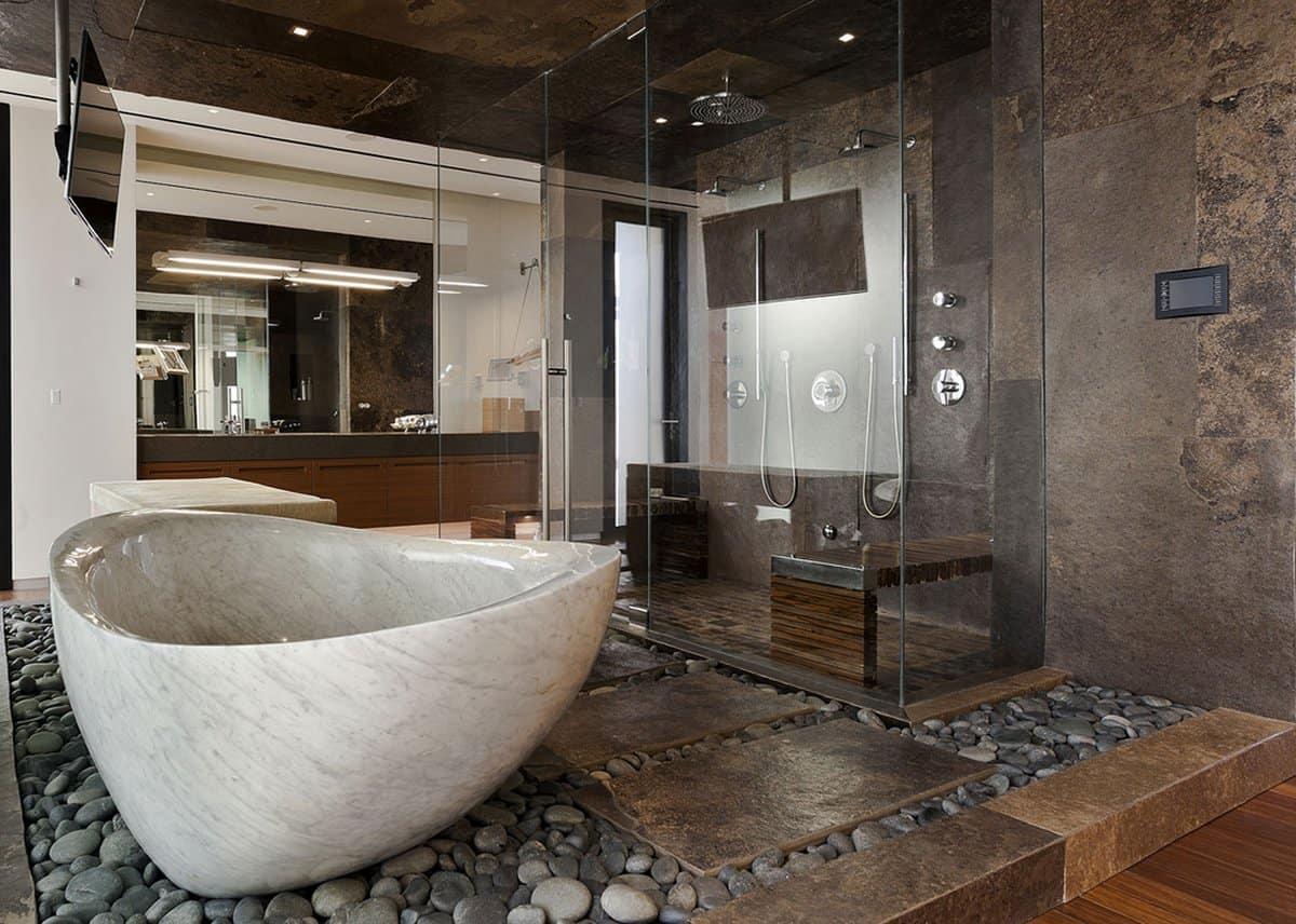 Ванная с натуральным камнем