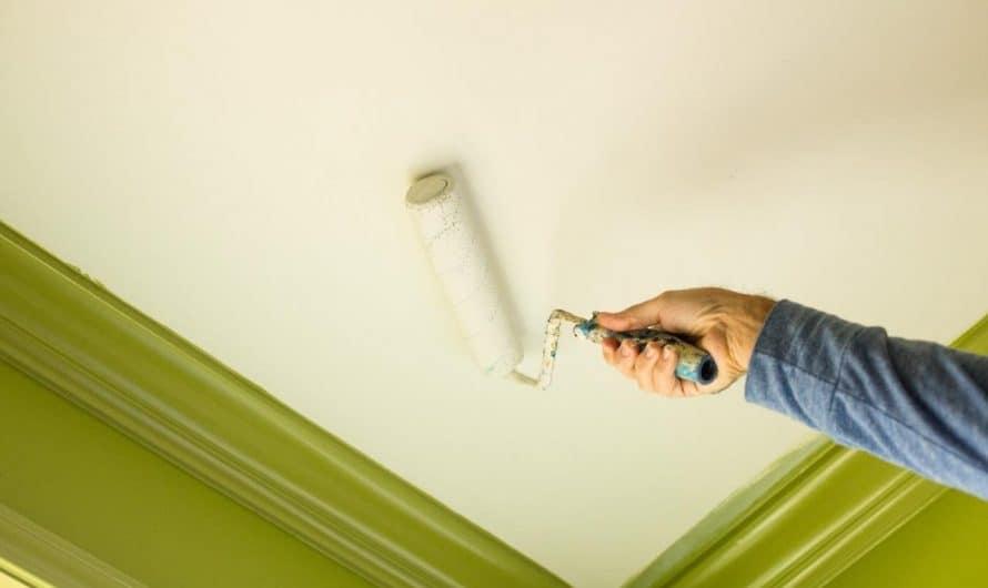 Особенности покраски потолка в ванной