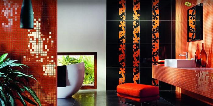 Черный и оранжевый