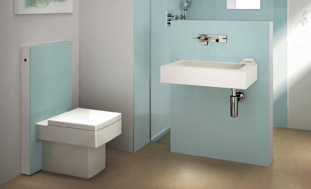 Примеры инсталляции в ванной комнате-1