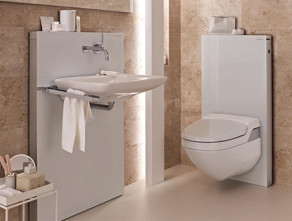 Примеры инсталляции в ванной комнате-2