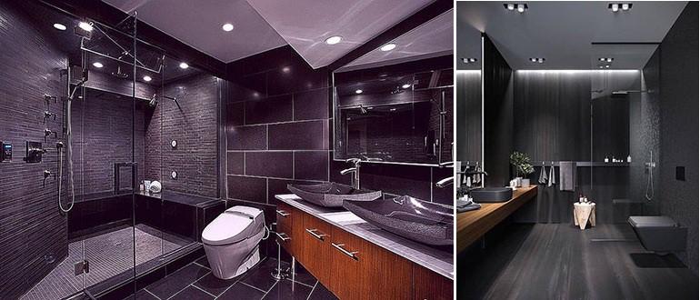 Темная ванная комната