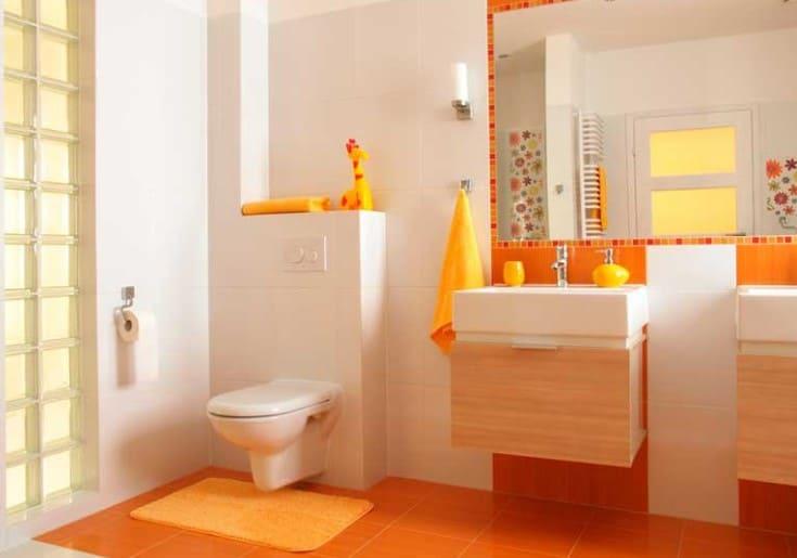 Красивая инсталляция в ванной комнате
