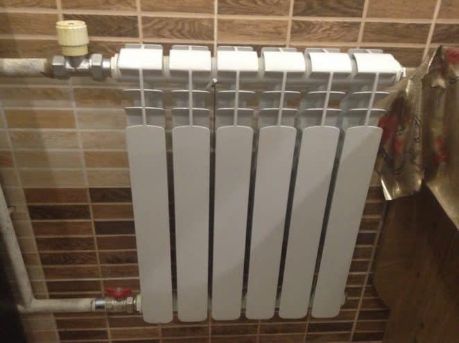 Батарея в ванной
