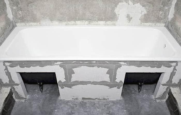 экран под ванну из газобетона