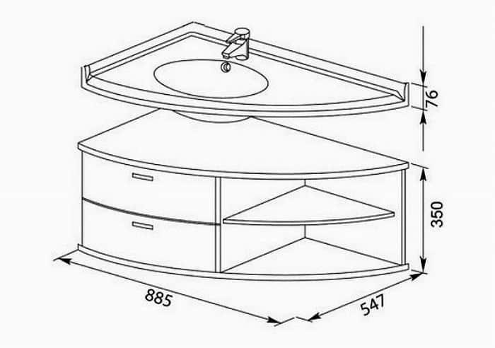 Мебель для ванной чертеж