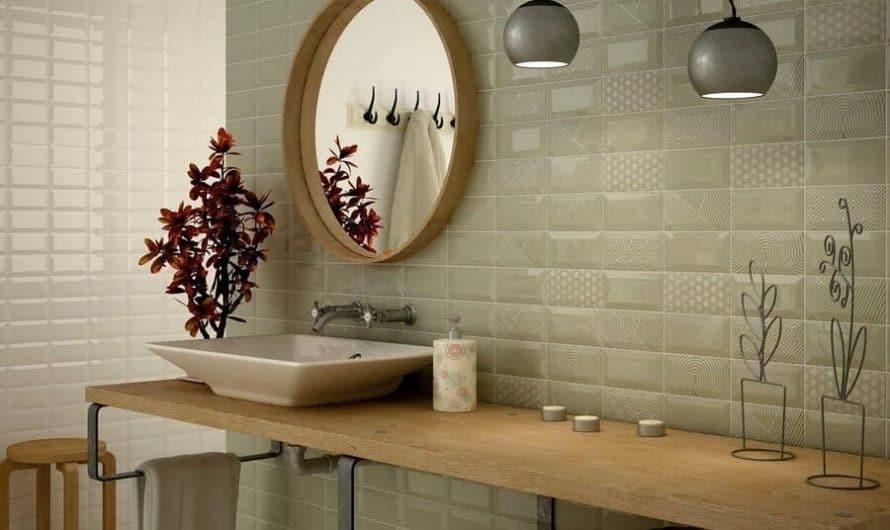 Как использовать плитку кабанчик в интерьере ванной комнаты