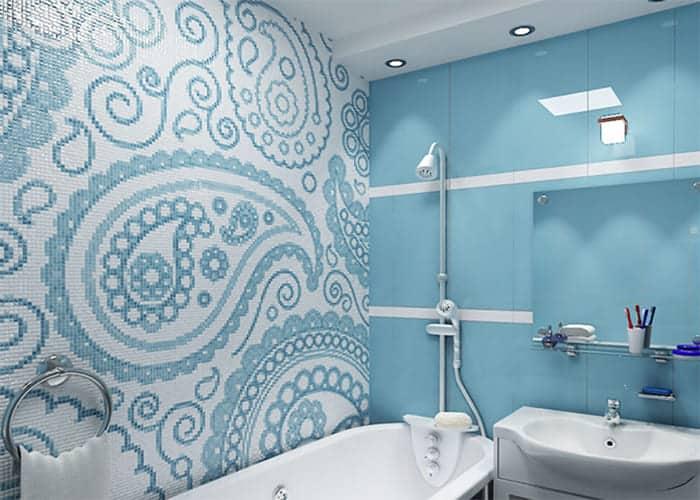 Узорная плитка в ванной