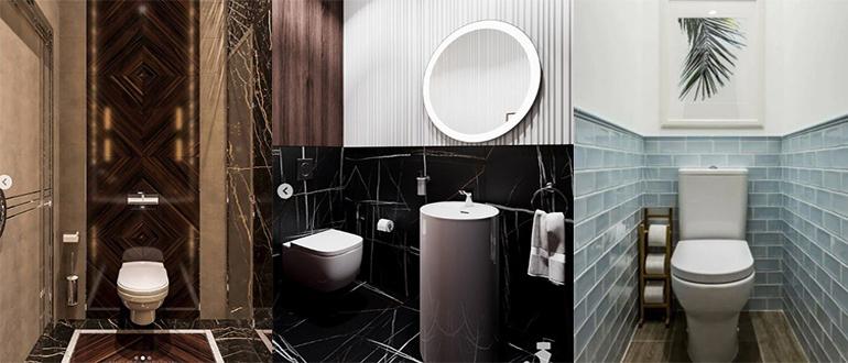Интерьер туалета без ванны