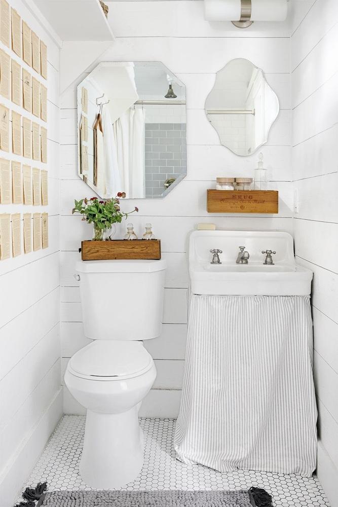 Светлые тона в дизайне ванны
