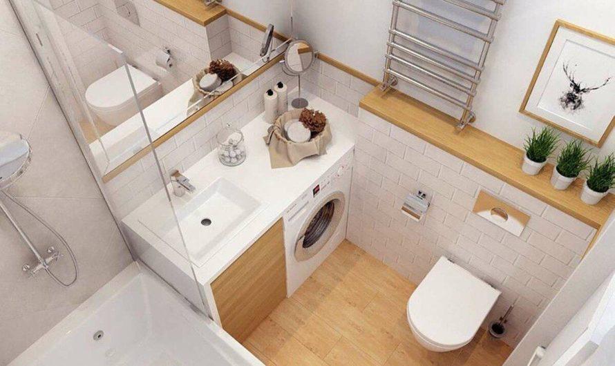 Душ и туалет в маленьком помещении