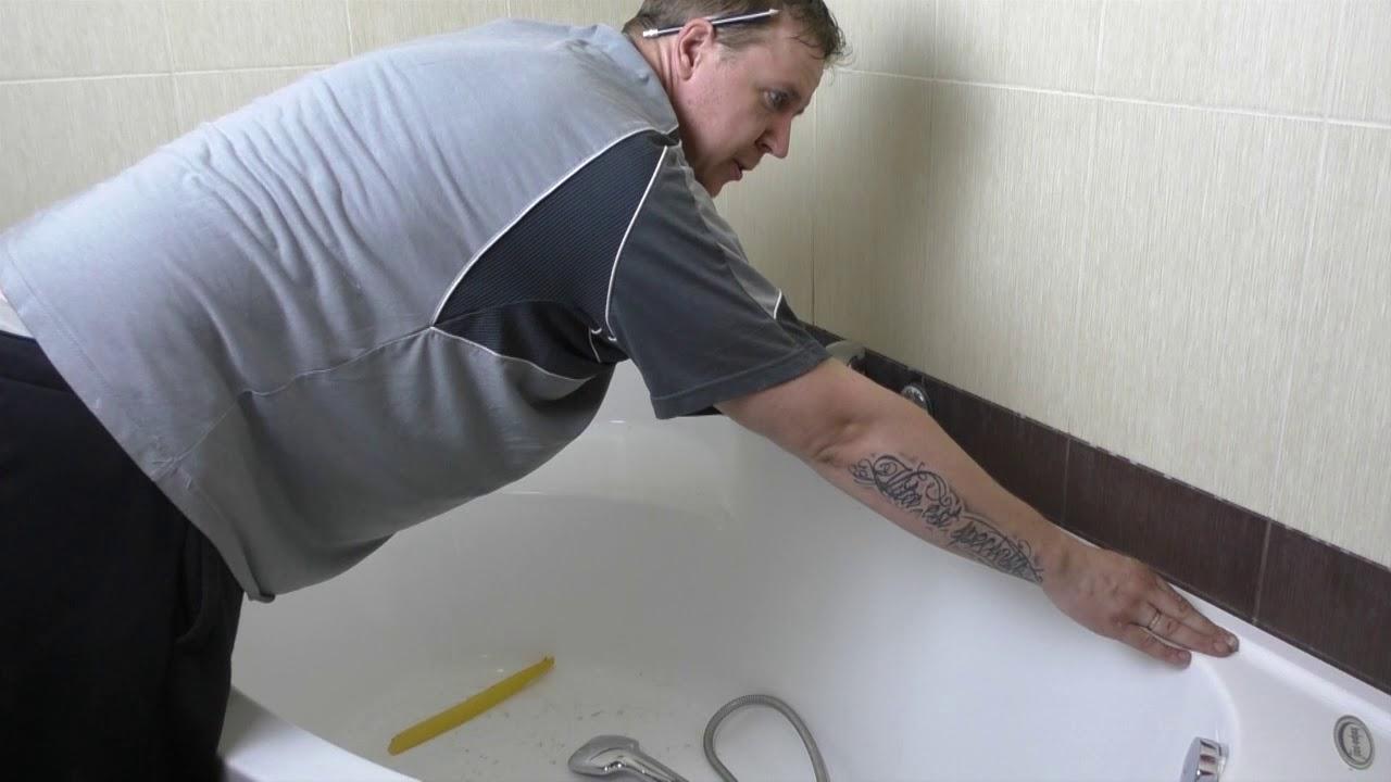 Акриловые бордюры для ванной ! Решение всех проблем с протечками!!!! И  просто очень красиво!!! - YouTube