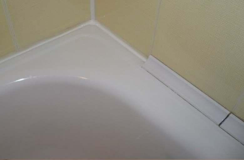 Плинтус для плитки в ванной
