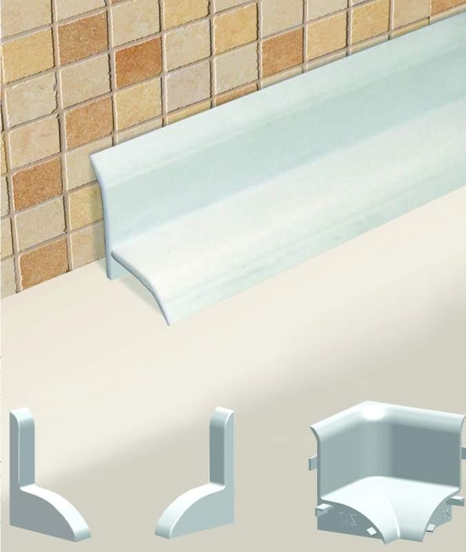 Плинтус для ванны: разновидности материалов
