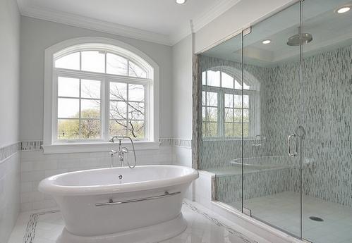 Ванная в серой стилистике