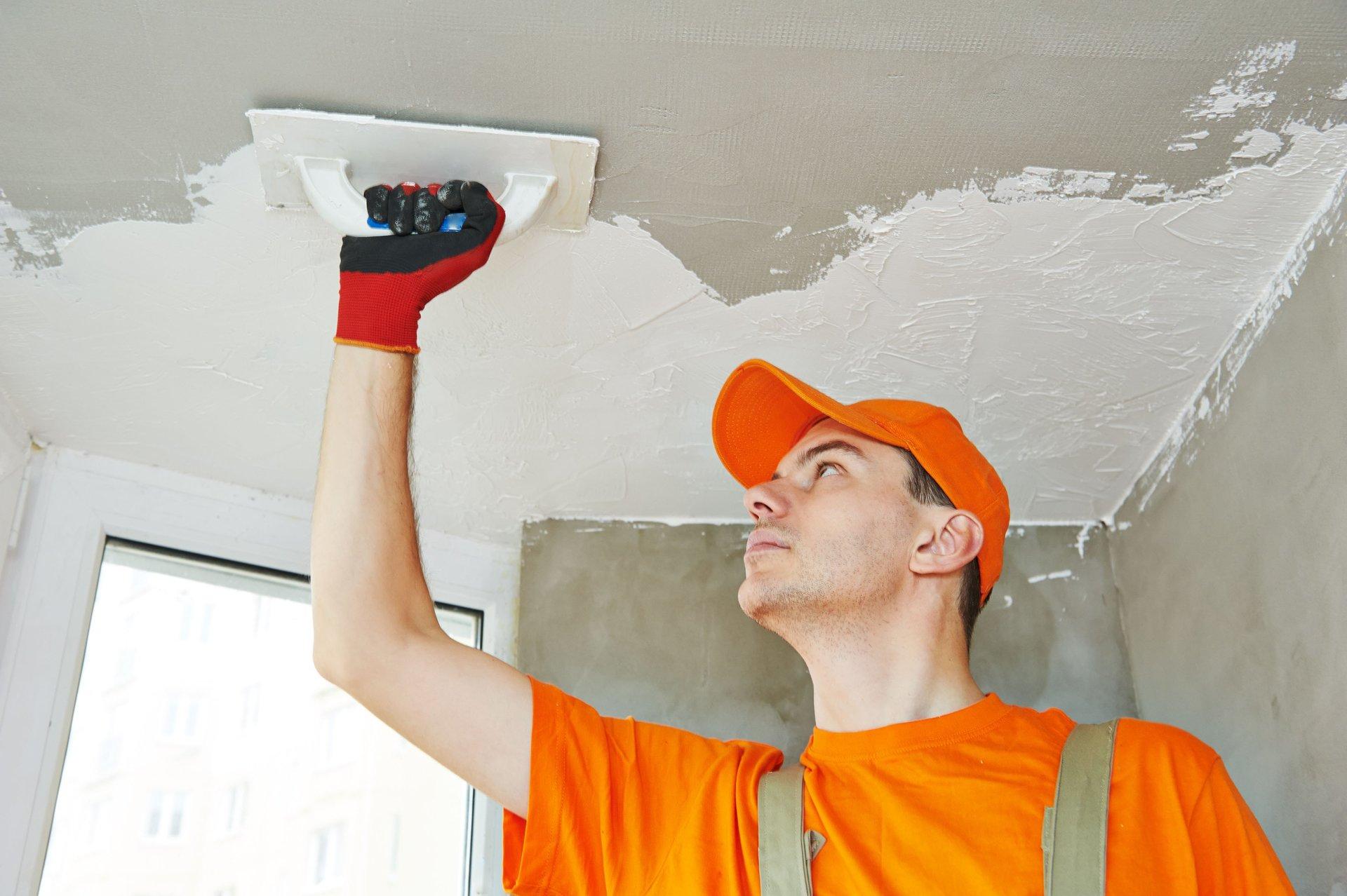 Покрытие потолка штукатуркой