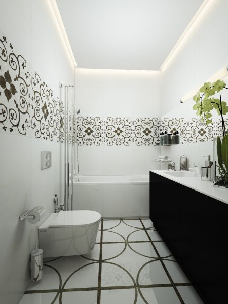 Натяжные потолки в ванной